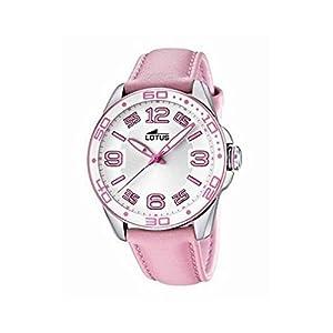 Reloj Lotus 15783/3 de cuarzo para mujer, correa de cuero color rosa de Lotus