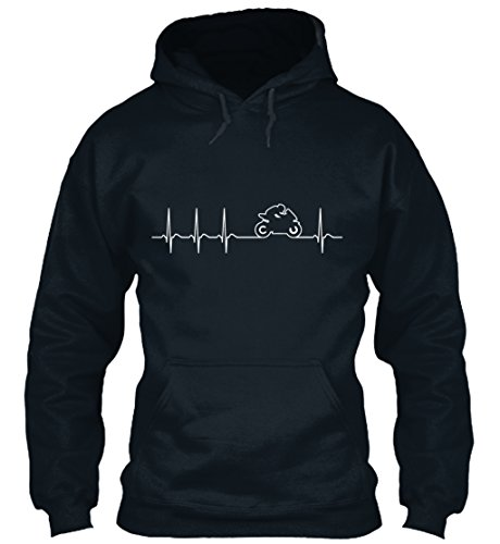 n / Herren / Unisex von Teespring | Originelles Outfit für jeden Anlass und lustige Geschenksidee - Motorrad Herzschlag EKG - Biker - Rennmotorrad (Biker-mama)