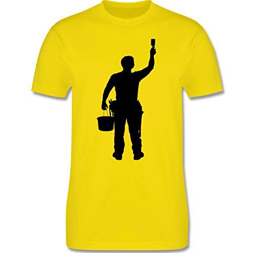 Handwerk - Maler - Herren Premium T-Shirt Lemon Gelb