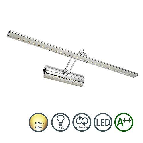 LED Spiegelleuchte Spiegellampe 180 ° einstellbar Badleuchte 960LM Badlampe SMD Dual-Lichtquelle mit Schalter für Möbel, Spiegel und Bad(12W Warmweiß)