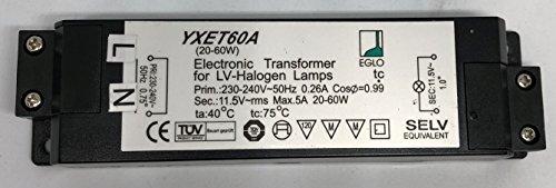 EGLO Halogen Trafo 60VA YXET60A 20 - 60 VA Watt Transformator elektronisch - 60 Va Elektronische