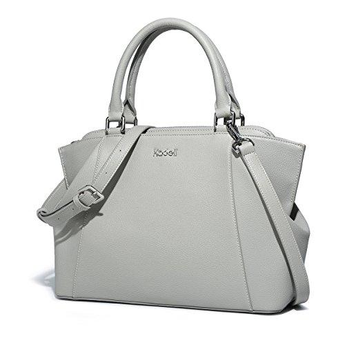 Kadell Top-handle borsetta di pelle di Donne Elegante Croce Body Purse Tote Bag Dottore Gre