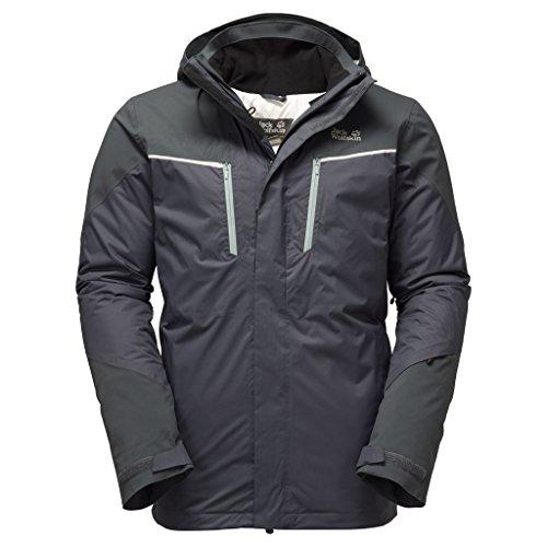 Jack Wolfskin Isolation & Veste d'hiver Icy Storm Jacket Homme Ebène