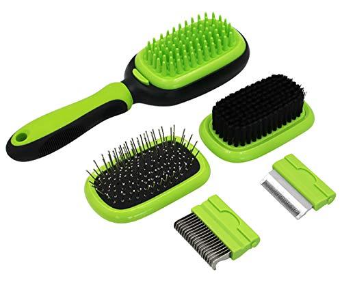 Ttkgyoe Pet Dog Grooming Pinselhaar Shedding Flee Tools Detangling Massage Bristle Soft Silikon Pins für Kurze && Langhaar 5 in 1 Cat Comb -