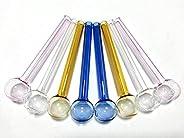 ZHENYANG 6Inch Glass Colorful Straws (8 pcs in 1set)