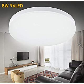 LED Ceiling Lights, 8W 5000K 24CM Flush Mount Lighting Daylight White in High Quality, Lighting Fitting Fixture for Kitchen Bathroom Bedroom Balcony Hallway Office Living Room