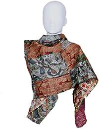 Indistar Vintage Silk Hand Quilted Kantha Hand Work Dupattas Reversible Scarves Scarf Patchwork Multicolor(80200... - B0767JFVWM