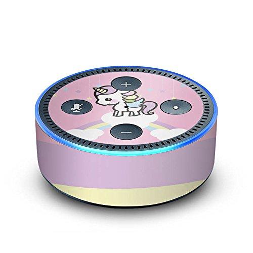 amazon Echo Dot 2.Generation Folie Skin Sticker aus Vinyl-Folie Little Unicorn Kinder 90s