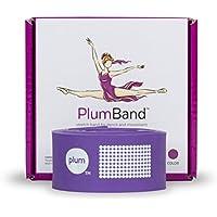 PlumBand - Banda elástica de ballet para danza y gimnasia - Disponible en varias tallas - Manual de instrucciones impreso y bolsa de viaje incluidos (versión en inglesa) (Morado, Regular)