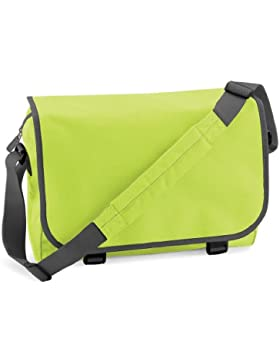 Moderne Schultertasche , Farbe:Lime Lime