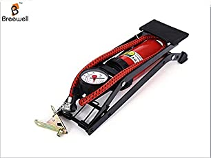 Breewell™ New High Pressure Foot Pump for Car Tire Inflator Pump Foldable Style Foot for Motor Bike Vehicle Auto Air Compressor