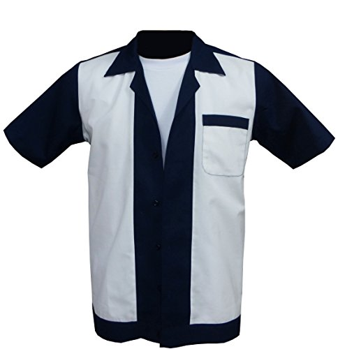 1950s/1960s Rockabilly,Bowling, Retro, Vintage Men's Shirt (X-Large)