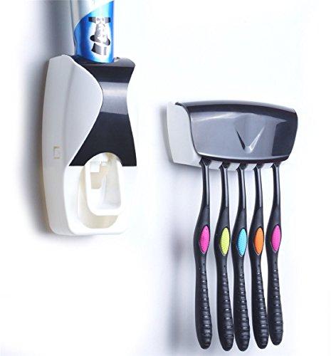 2 Pack FDA und LFGB aufgef/ührten.2 St/ück Automatische Zahnpasta Spender Set mit Wand montiert Kinder H/ände frei Zahnpasta f/ür Kinder Dusche Badezimmer Waschbecken