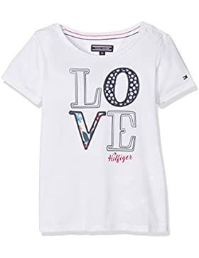 Tommy Hilfiger Mädchen T-Shirt Girls Flower Cn Knit S/S