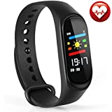 Honey Money Fitness Tracker, M3 Fitness Watch Sport Wristband Activity Tracker With Heart Rate Monitor, Sleep Monitor, Step Counter, Calorie Counter, Pedometer For Men Women And Kids (Black)