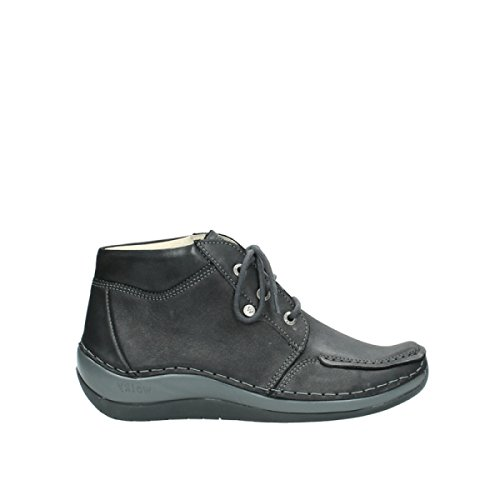 Wolky Damen Schuhe Halbschuh Schnürschuh Sensation Athracite Naomi Metal 4826121 (38 EU)