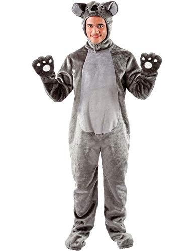 (Erwachsene Damen Herren Tier Zoo Koala Dschungel Verkleidung Kostüm Standard)