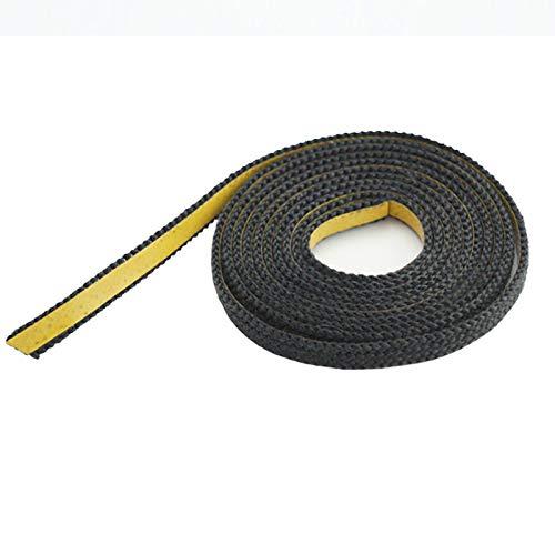 Dichtband selbstklebend schwarz 20mm x 3mm ideal für Scheibendichtungen von Kaminöfen