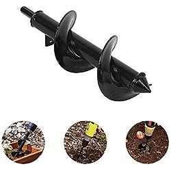 Volwco Mèche de tarière pour tarière Thermique, Vis pour Tarière pour Plantation Literie Ampoules Seedlings, 8 * 30cm
