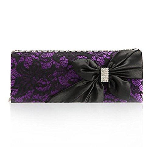 WZW Donna Poliestere Formale / Serata/evento / Matrimonio / Ufficio e lavoro / Shopping Borsa da seraViola / Blu / Dorato / Grigio / Nero / . gray purple
