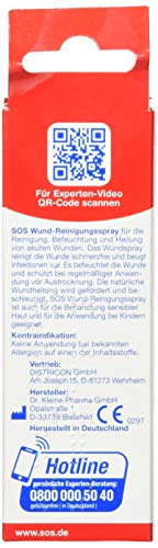 SOS Medizinisches Wund-Spray: Wundspray zur schmerzfreien Reinigung akuter Wunden, Wunddesinfektionsmittel, 50ml