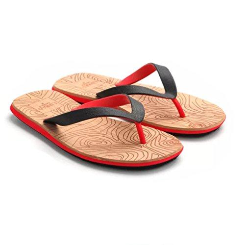 Baymate Uomo Infradito Spiaggia Dei Sandali Antiscivolo Pantofole Rosso