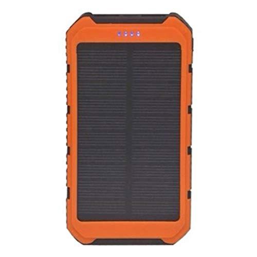 CHANNIKO-DE Solar Power Bank Tragbares Ladegerät Solar Phone Charger mit 2 Schnellladestationen USB-Anschluss Externer Akku für Android-Handys