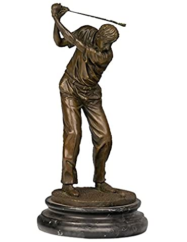 Toperkin Sport Player Metal Statue Golfer Home Deko Bronze Sculpture TPY-394 (Golfer Bronze Garten-statue)