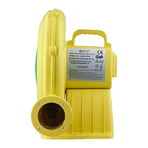 Wumudidi Luftgebläse-Pumpen-Ventilator, wasserdichtes flammhemmendes Hochzeits-aufblasbares Gebläse Ipx4 federnd Schloss-Luftgebläse,480W,EU (Gebläse-aufblasbares)