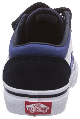 Vans T Milton V, Baskets mode mixte bébé Bleu (Suede Canvas/Navy/Stv Navy)