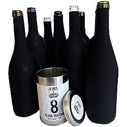 Set 8 Chaussette de degustation à l'aveugle - Boite metal - Ensembles d'accessoires pour vin