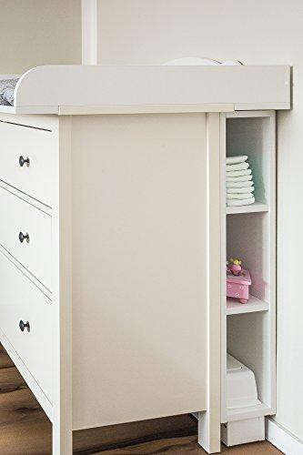 KraftKids, estantería para cambiador, color blanco, se adapta a la cómoda HEMNES