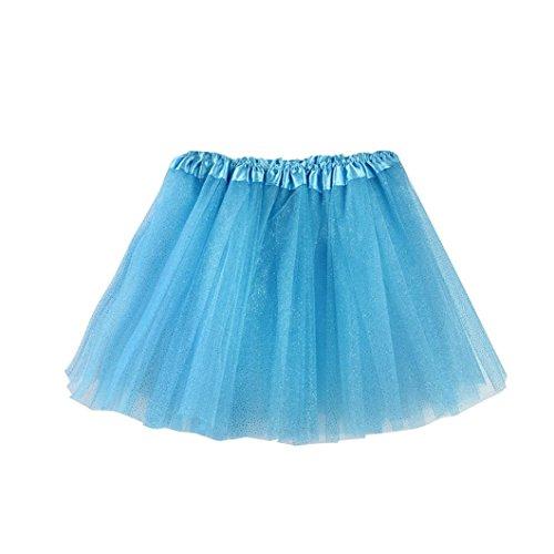 erthome Baby Mädchen Rock, Kinder Mädchen Tanz Fluffy Tutu Röcke Pettiskirt Ballett Kostüm Kleidung 3-8 Jahre (Blau)
