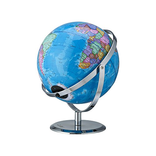 Aibecy bola del mundo con luz 9 pulgadas USB Permite giros en 720 Tierra y la Constelación Mapa Luz de noche Geografía Herramienta educativa G901-LA-C