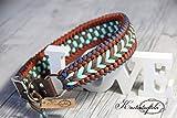 Knotentüftelei Hundehalsband/Handgemacht/Verstellbar 45 cm - 51 cm
