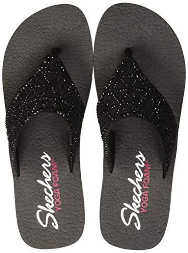 Skechers Damen Vinyasa-Glass Star Sandalen, Schwarz (Black BBK), 39 EU (Skechers-damen Flip-flops)