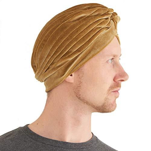 Casualbox | Twist Falten Turban Kopf Wickeln Arabisch Indisch Mode Chemo Hut Gold
