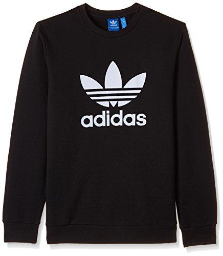 adidas Originals Boys' Sweatshirt (S96074_Black and White_146)