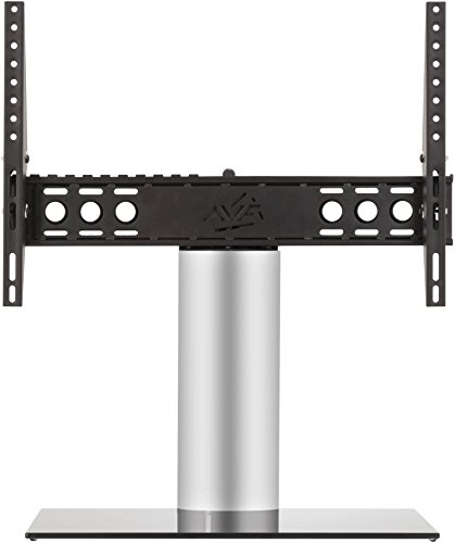 AVF Adjustable Tilt and Turn Table Top Stand For Upto 65 inch TVs - Black and Silver Best Price and Cheapest