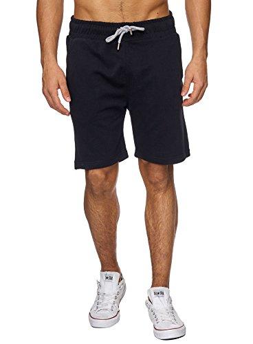 Reslad-Sweat-Shorts-Herren-Basic-Sport-Freizeit-Kurze-Sweat-Hose-RS-5061-Schwarz-M