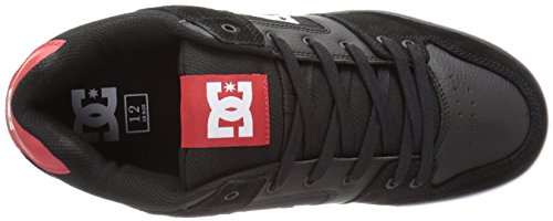 DC Shoes - Pure M Shoe - Sneaker, homme Black Athletic Red