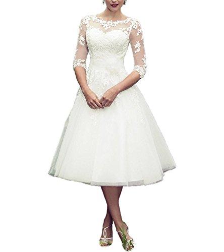 DreamyDesign Elegant Herzfömig Hochzeitskleid Standesamt durchsichtig Applikation Brautkleid Sommer...