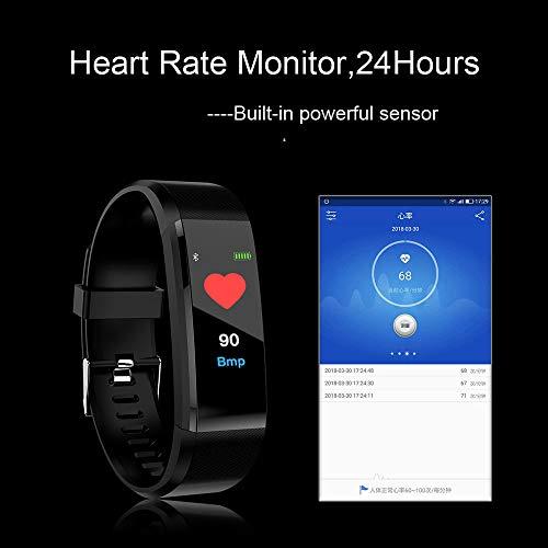 Imagen de opaky fitness tracker pantalla a color monitor de ritmo cardíaco presión arterial pulsera inteligente relojes deportivos gps impermeable actividad pulsera mujer hombre reloj fitness podómetro alternativa