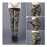 Cisne 2013, S.L. Leggins para Mujer diseño Estilo Camuflaje Color Verde. Talla Única XL/XXL. Pantalones elásticos Ajustables para Mujer diseño Camuflaje Verde Lisos. Talla XL/XXL