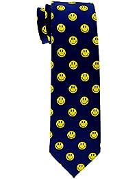 Retreez Happy Smiley Face Emoticon tejida corbata de niño–8–10años–Varios colores