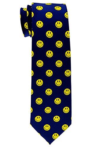 Retreez Happy Smiley Face Emoticon tejida corbata de niño-8-10años-Varios colores azul azul marino 8 - 10 Año