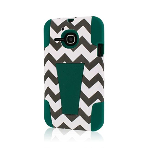MPERO Impact X Series Kickstand Case Tasche Hülle for Alcatel ONETOUCH Evolve 5020T - Teal Chevron