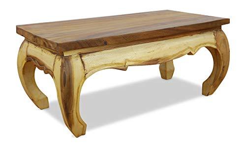 livasia Massivholz Opiumtisch | Couchtisch 80x40cm | Beistelltisch | Asiatischer Couchtisch | Massivholztisch aus Thailand | Asia Möbel der Marke Asia Wohnstudio (Natur)