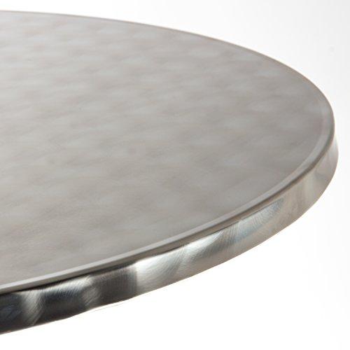 Vanage Stehtisch Bistrotisch in silber - der Bartisch ist höhenverstellbar - Aluminiumtisch gut geeignet als Beistelltisch oder Partytisch im Garten - 4