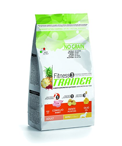 Trainer Natural NovaFoods Cibo per Cani Fitness 3 Adult Mini Rabbit&Pot 7,5KG - 7500 gr